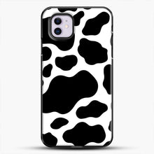 Load image into Gallery viewer, Cow Style iPhone 11 Case, Black Plastic Case | JoeYellow.com