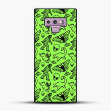 Load image into Gallery viewer, Cryptid Pattern Black On Green Samsung Galaxy Note 9 Case