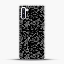 Load image into Gallery viewer, Cryptid Pattern Lines White Samsung Galaxy Note 10 Case