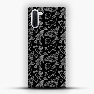 Cryptid Pattern Lines White Samsung Galaxy Note 10 Case