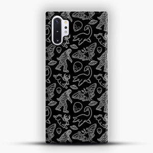 Cryptid Pattern Lines White Samsung Galaxy Note 10 Plus Case