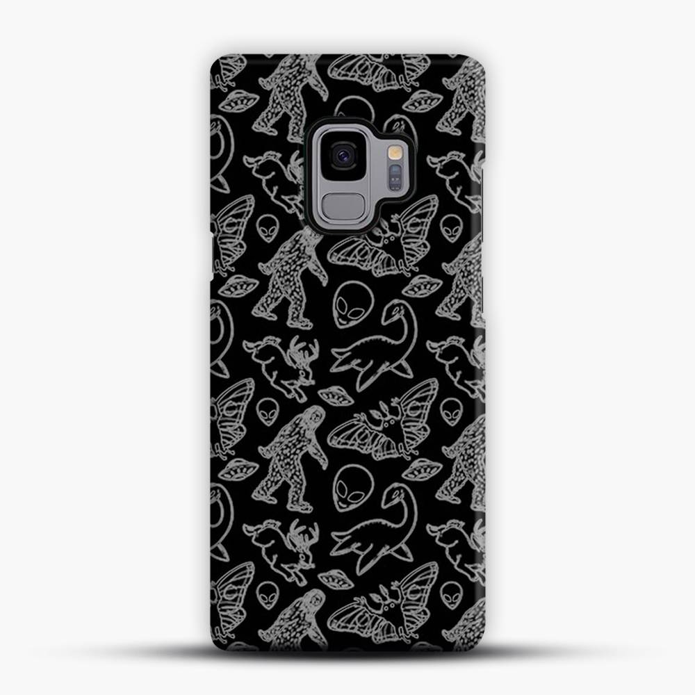 Cryptid Pattern Lines White Samsung Galaxy S9 Case