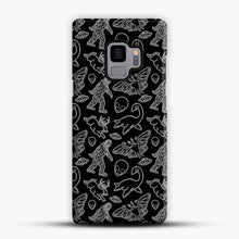Load image into Gallery viewer, Cryptid Pattern Lines White Samsung Galaxy S9 Case