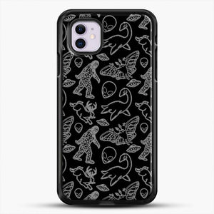 Cryptid Pattern Lines White iPhone 11 Case