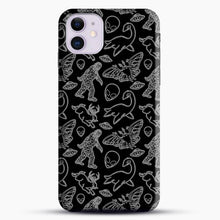Load image into Gallery viewer, Cryptid Pattern Lines White iPhone 11 Case