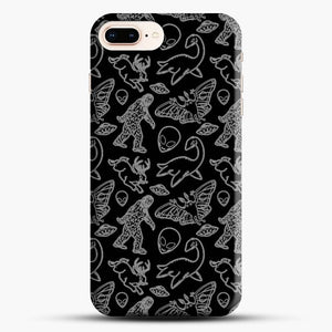 Cryptid Pattern Lines White iPhone 7 Plus Case