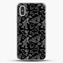 Load image into Gallery viewer, Cryptid Pattern Lines White iPhone XS Max Case