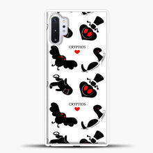 Load image into Gallery viewer, Cryptid Pattern White Background Samsung Galaxy Note 10 Plus Case