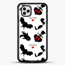 Load image into Gallery viewer, Cryptid Pattern White Background iPhone 11 Pro Case