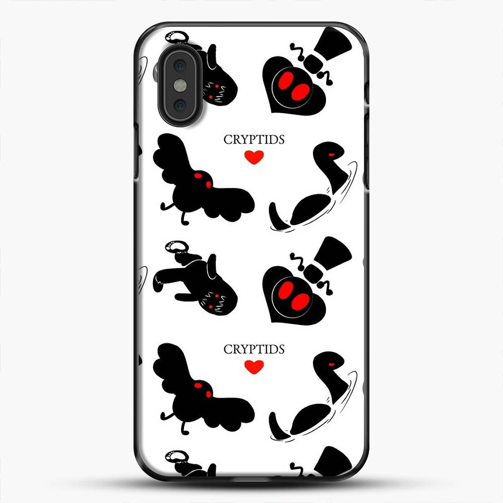 Cryptid Pattern White Background iPhone XS Max Case