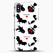 Load image into Gallery viewer, Cryptid Pattern White Background iPhone XS Max Case