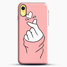 Load image into Gallery viewer, Cute Heart iPhone XR Case, Black Snap 3D Case | JoeYellow.com