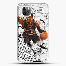 Load image into Gallery viewer, Damian Lillard Ankle Break Action iPhone 11 Pro Max Case, White Plastic Case | JoeYellow.com