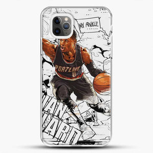 Damian Lillard Ankle Break Action iPhone 11 Pro Max Case, White Plastic Case | JoeYellow.com