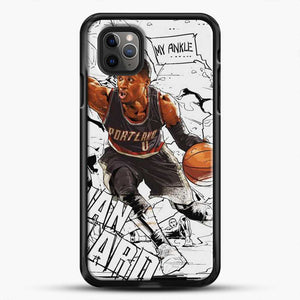 Damian Lillard Ankle Break Action iPhone 11 Pro Max Case, Black Rubber Case | JoeYellow.com