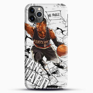 Damian Lillard Ankle Break Action iPhone 11 Pro Max Case, Black Snap 3D Case | JoeYellow.com