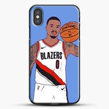 Load image into Gallery viewer, Damian Lillard Basketball Art iPhone X Case, Black Plastic Case | JoeYellow.com