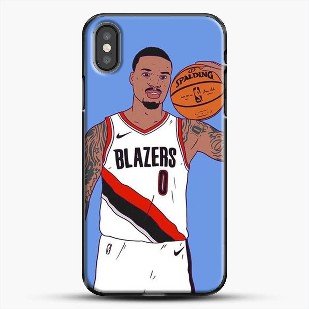 Damian Lillard Basketball Art iPhone X Case, Black Plastic Case | JoeYellow.com