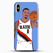 Load image into Gallery viewer, Damian Lillard Basketball Art iPhone X Case, Black Snap 3D Case | JoeYellow.com