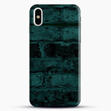 Load image into Gallery viewer, Darkgreen Hunter Green Brick iPhone X Case