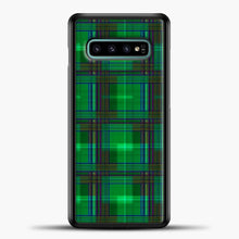 Load image into Gallery viewer, Darkgreen Modern Tartan Samsung Galaxy S10e Case
