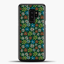 Load image into Gallery viewer, Darkgreen Retro Flower Pattern Samsung Galaxy S9 Plus Case