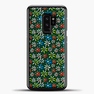 Darkgreen Retro Flower Pattern Samsung Galaxy S9 Plus Case