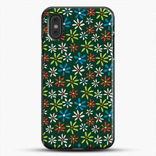 Load image into Gallery viewer, Darkgreen Retro Flower Pattern iPhone XS Max Case