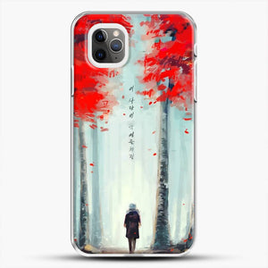 Dead Leaves Red Tree iPhone 11 Pro Max Case