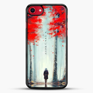 Dead Leaves Red Tree iPhone 8 Case