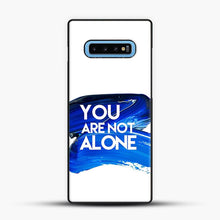 Load image into Gallery viewer, Dear Evan Hansen You Are You Dark Blue Brush Samsung Galaxy S10 Case