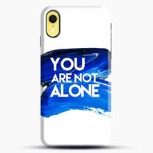 Load image into Gallery viewer, Dear Evan Hansen You Are You Dark Blue Brush iPhone XR Case