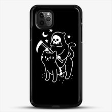 Load image into Gallery viewer, Death Rides A Black Cat iPhone 11 Pro Max Case, Black Rubber Case | JoeYellow.com