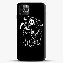 Load image into Gallery viewer, Death Rides A Black Cat iPhone 11 Pro Max Case, Black Snap 3D Case | JoeYellow.com