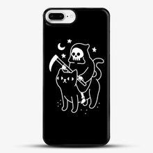 Load image into Gallery viewer, Death Rides A Black Cat iPhone 8 Plus Case, Black Plastic Case | JoeYellow.com