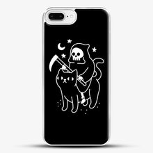 Load image into Gallery viewer, Death Rides A Black Cat iPhone 8 Plus Case, White Plastic Case | JoeYellow.com