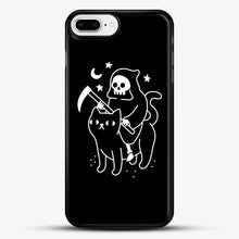 Load image into Gallery viewer, Death Rides A Black Cat iPhone 8 Plus Case, Black Rubber Case | JoeYellow.com