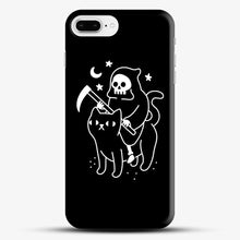 Load image into Gallery viewer, Death Rides A Black Cat iPhone 8 Plus Case, Black Snap 3D Case | JoeYellow.com
