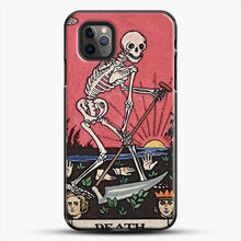 Load image into Gallery viewer, Death Tarot iPhone 11 Pro Max Case, Black Plastic Case | JoeYellow.com