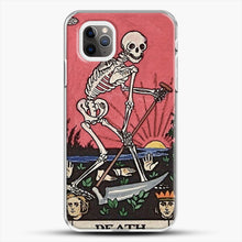 Load image into Gallery viewer, Death Tarot iPhone 11 Pro Max Case, White Plastic Case | JoeYellow.com