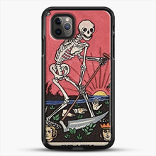 Load image into Gallery viewer, Death Tarot iPhone 11 Pro Max Case, Black Rubber Case | JoeYellow.com