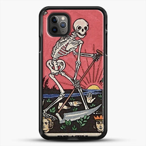 Death Tarot iPhone 11 Pro Max Case, Black Rubber Case | JoeYellow.com