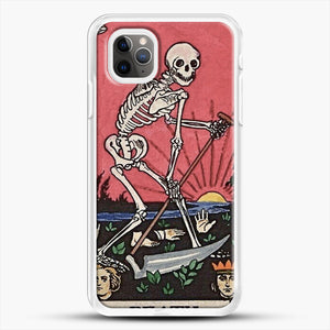 Death Tarot iPhone 11 Pro Max Case, White Rubber Case | JoeYellow.com