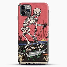 Load image into Gallery viewer, Death Tarot iPhone 11 Pro Max Case, Black Snap 3D Case | JoeYellow.com