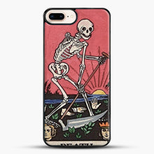 Load image into Gallery viewer, Death Tarot iPhone 8 Plus Case, Black Plastic Case | JoeYellow.com