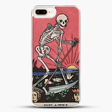 Load image into Gallery viewer, Death Tarot iPhone 8 Plus Case, White Plastic Case | JoeYellow.com