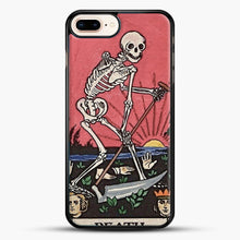 Load image into Gallery viewer, Death Tarot iPhone 8 Plus Case, Black Rubber Case | JoeYellow.com