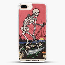 Load image into Gallery viewer, Death Tarot iPhone 8 Plus Case, White Rubber Case | JoeYellow.com