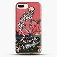 Load image into Gallery viewer, Death Tarot iPhone 8 Plus Case, Black Snap 3D Case | JoeYellow.com