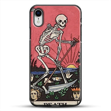 Load image into Gallery viewer, Death Tarot iPhone XR Case, Black Plastic Case | JoeYellow.com